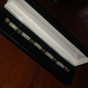 Jewelry - 14karat gold bracelet with Jade stones